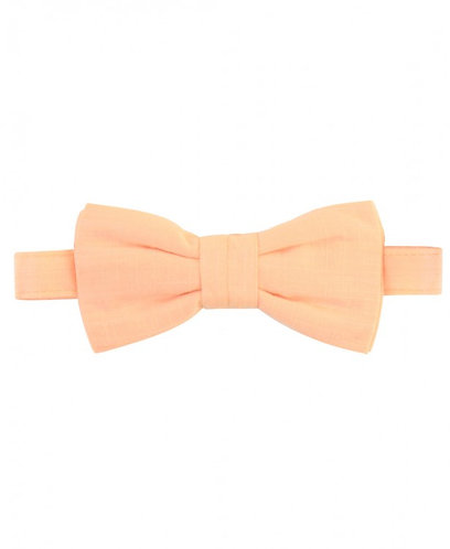 Salmon Swiss Dot Bow Tie