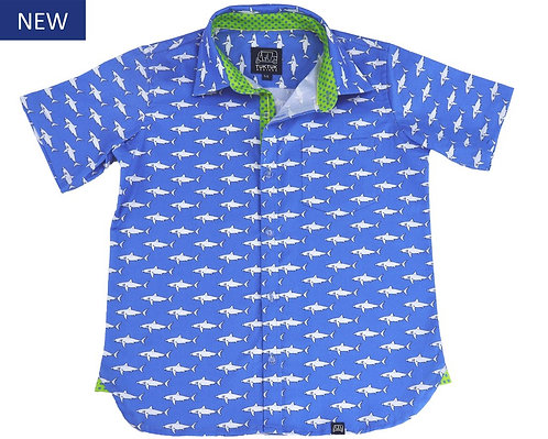 Tuk Tuk Mako Sharks Short Sleeve Button Down