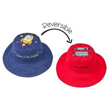 FlapJack Kids Reversible Spaceman Sun Hat