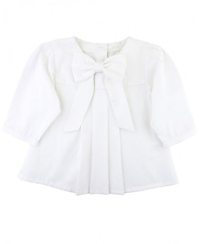Ruffle Butts White Bow Shirt