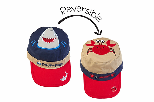 FlapJack Kids Reversible Shark Cap