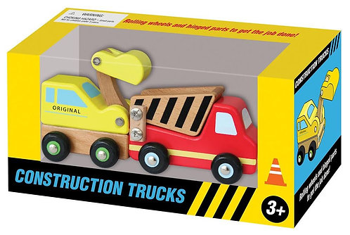 Wooden Construction Truck Set