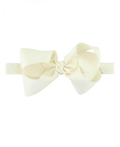Ivory Headband Bow