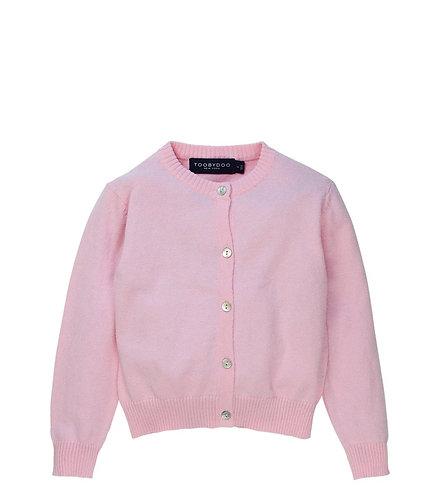 TooByDoo Pink Cardigan Sweater