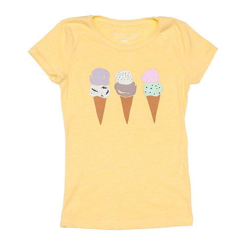 Yellow Ice Cream Tee