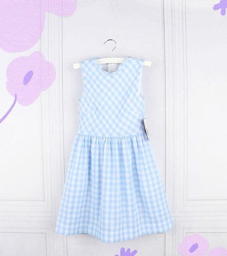 Gabby Girl Blue Gingham Dress