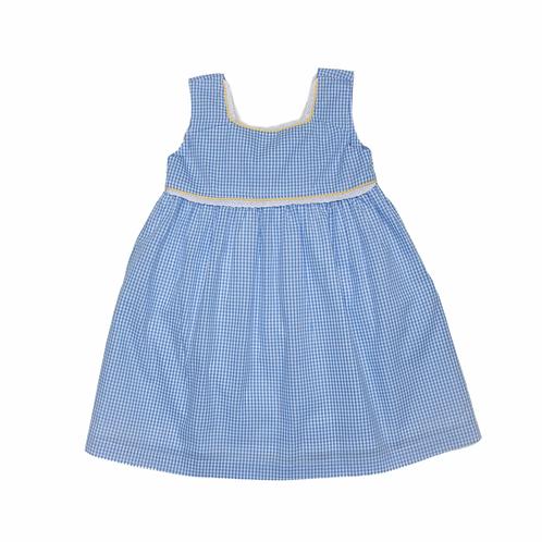 Oaks Apparel Charleston Blue Gingham Bow Back Dress