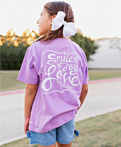 Ruffle Butts Signature Tees -Smile, Joy, Love