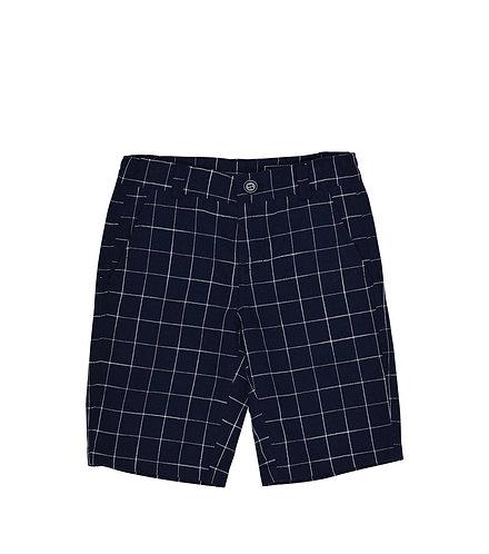 TooByDoo Preston Navy Windowpane Shorts