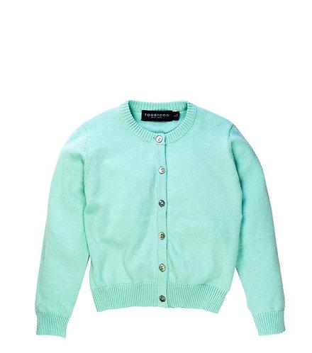 TooByDoo Aqua Cashmere Cardigan Sweater