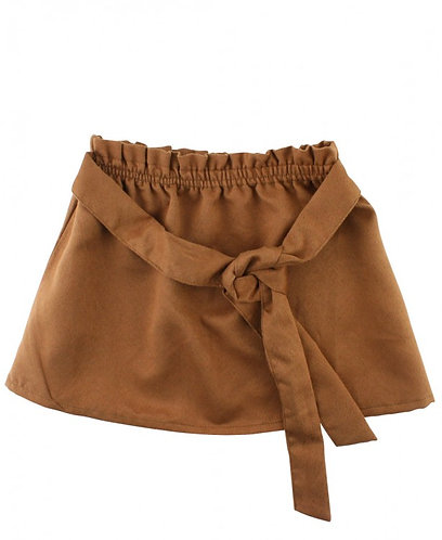 Ruffle Butts Faux Suede Paper Bag Skirt