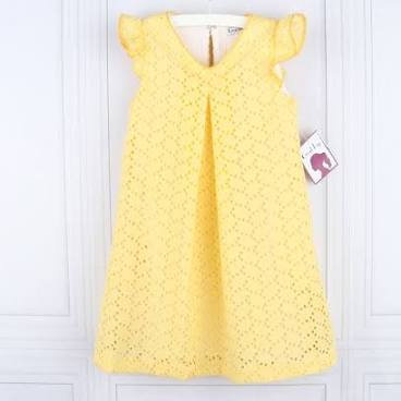 Yellow Eyelet Dress by Gabby Girls
