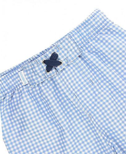 Rugged Butts Blue Gingham Swim Trunks