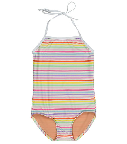 TooByDoo Megan Rainbow Stripe One-Piece Swimsuit