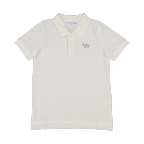 Petit Peony White Polo