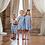 Thumbnail: Oaks Apparel Charleston Blue Gingham Bow Back Dress