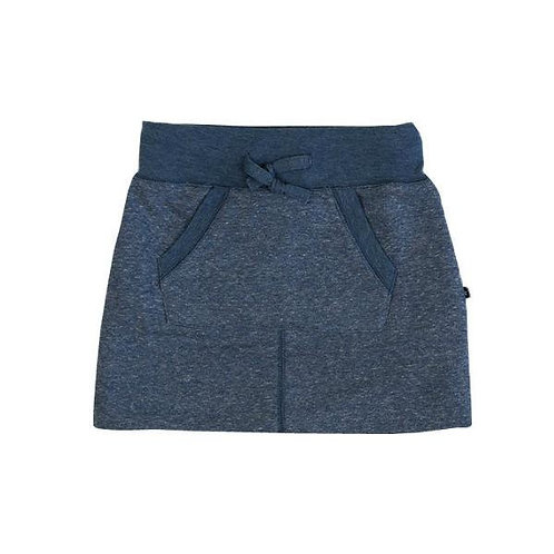 Blue  Terry Skirt