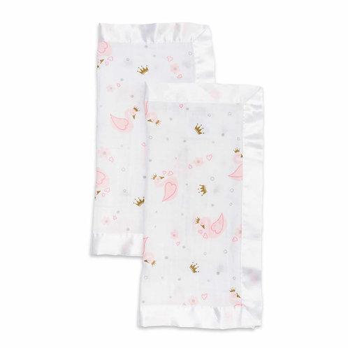 Swan Cotton Muslin Security Blanket Set