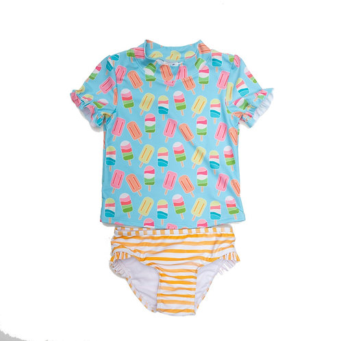 Oaks Apparel Ice Cream 2-Piece Rashguard Swimsuit