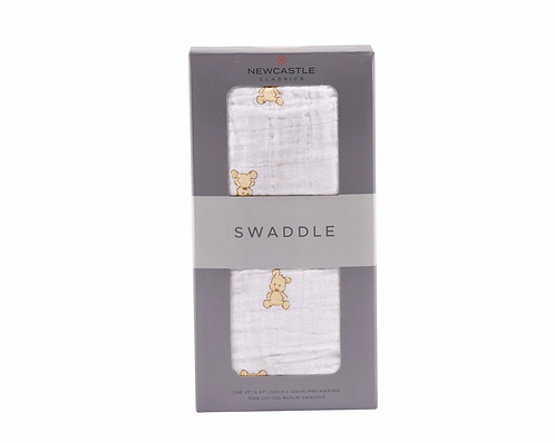 Teddy Bear Swaddle Blanket