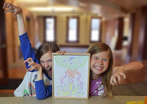 Begin Again Toys Creature Creator Collaborative Drawing Set - Fun Art Activity