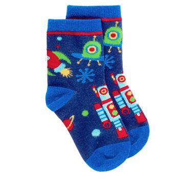 Stephen Joseph Boys Space Robot Socks
