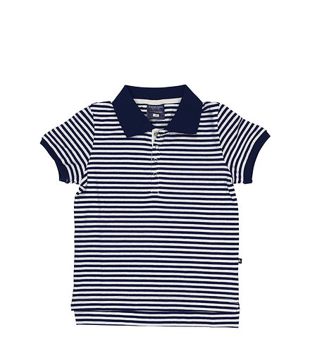 TooByDoo Navy Striped Polo Shirt