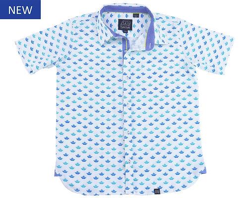 Tuk Tuk Origami Sailboat Short Sleeve Button Down