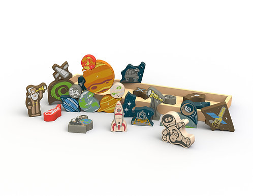 Space A-Z Puzzle & Playset