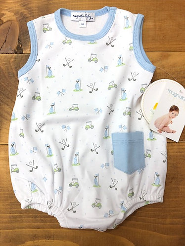 Magnolia Baby Putting Around Boys Romper