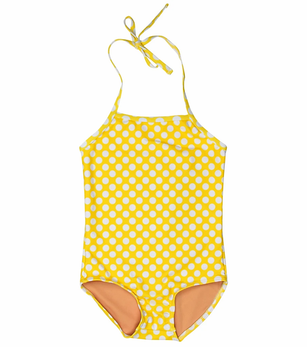 TooByDoo Yellow Polka Dot Swimsuit