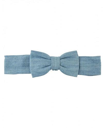 Light Wash Denim Headband Bow