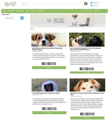 Pura Naturals Pet - Blog Posts