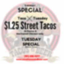 Taco Tuesday Special so caltacos and bee