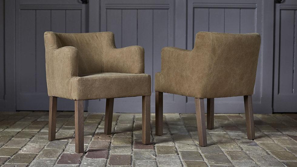 Pecksniff Khaki Carver Dining Chair
