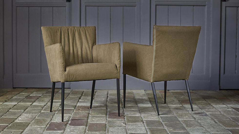Selborne Khaki Carver Dining Chair