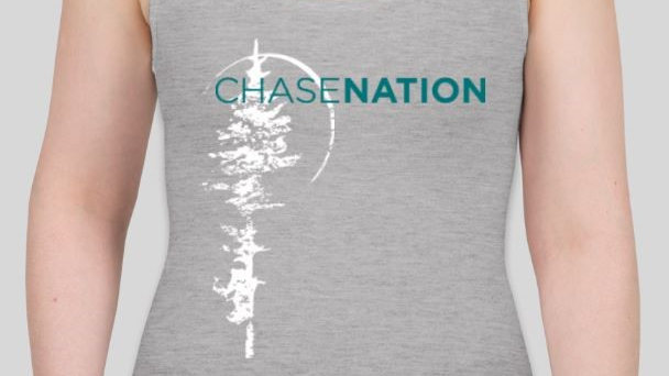 Ladies Racerback Tank - Grey/Teal