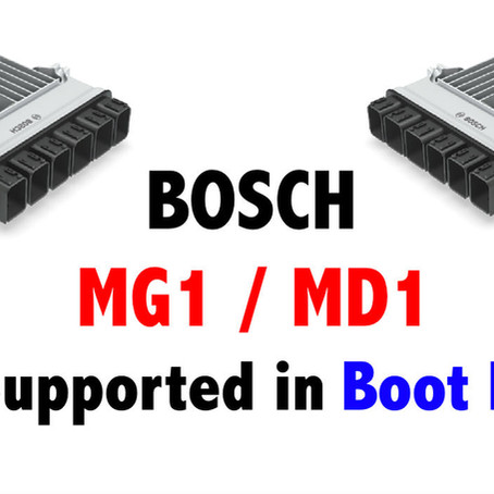 BOSCH MG1 / MD1 Supported in Boot Mode