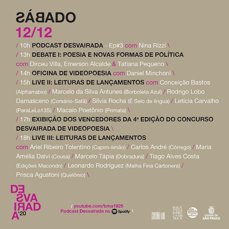 IV Desvairada   Live III - Leituras de Lançamentos com Leonardo Rodríguez