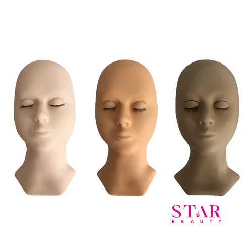 Star Beauty Replaceable Eyelids Mannequin  Head with Lashes