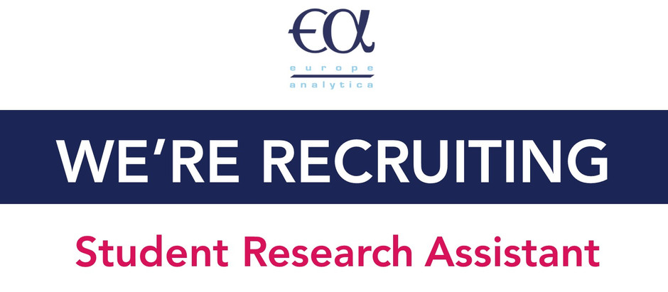 Europe Analytica is looking for a New Research Assistant!             Deadline 10 July 2019