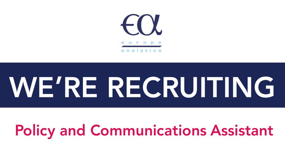 Europe Analytica is looking for a new Policy and Communications Assistant!