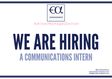 Europe Analytica is looking for a Communications Intern!