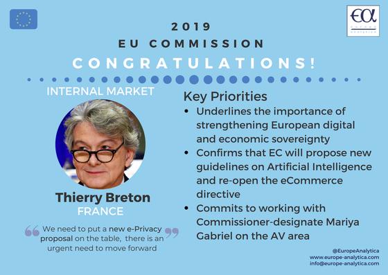 Thierry Breton - Macron's 2nd pick takes charge of the Internal Market