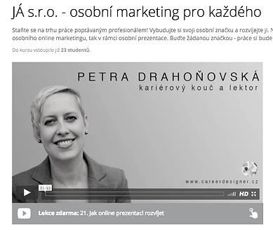 Petra Drahoňovská kurz osobní marketing osobní branding značka personal brand Career Designer