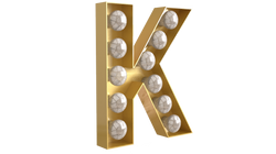 Light Off Cabochon Gold Letter