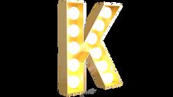 Light On Cabochon Gold Letter