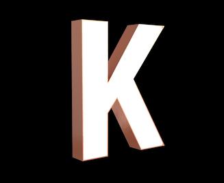 Illuminated Copper Letter