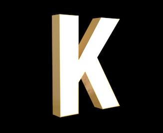Illuminated Gold Letter