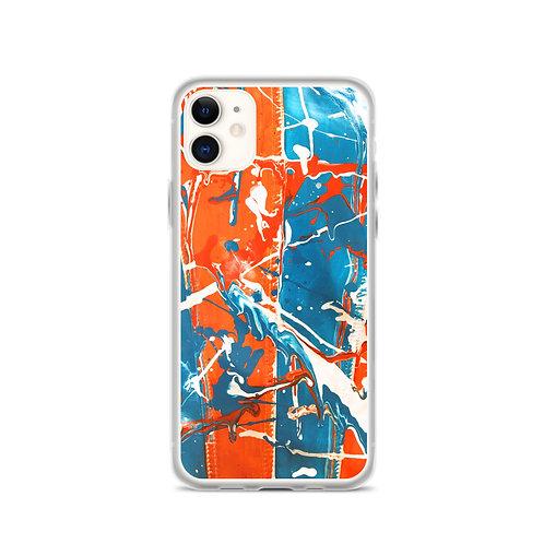 Orange/Ocean iPhone Case